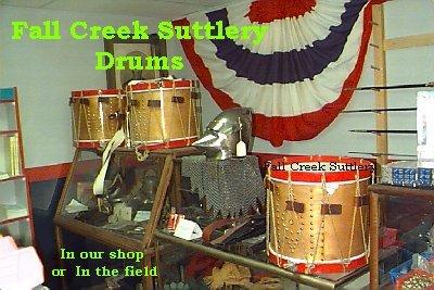 Civil War Drums & Accessories , Fall Creek Sutler , Fall