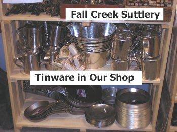 Tinware in our Shop