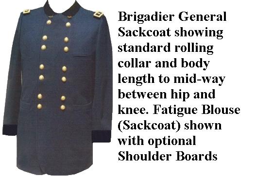 Officer Sack Coats, Civil War, Union, Fall Creek Sutler,